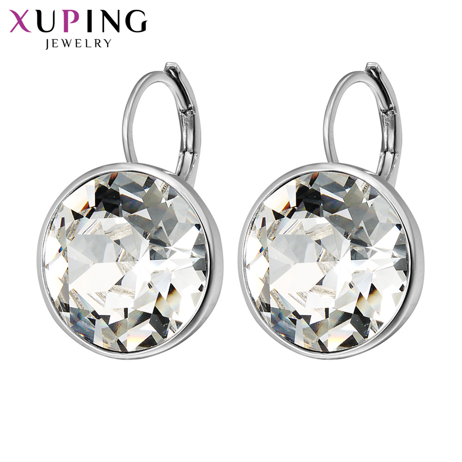 Top Sale Crysral From Swarovski Xuping Fishion Earring Colorful High Quality Platinum Color Plated Charm For