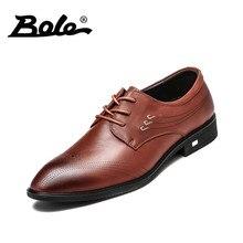 Боле Новый ручной работы из кожи Мужская деловая обувь модные дизайнерские Кружево до Мужские модельные туфли с острыми носками Обувь шнурованная красивые мужские туфли на плоской подошве