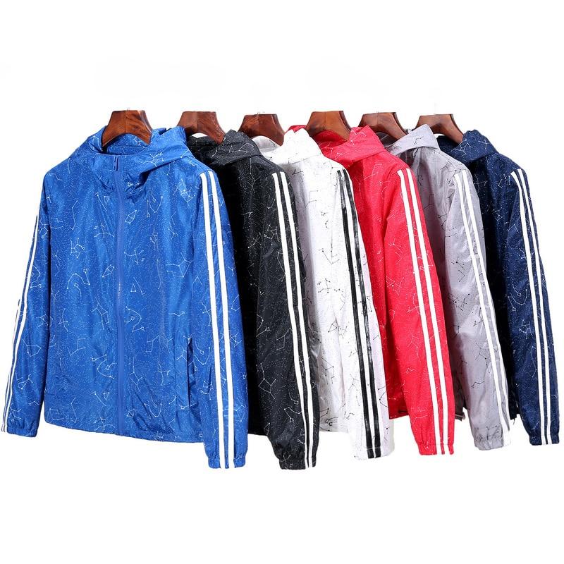 Women   Basic     Jackets   Coats 2019 Spring Causal Stripe Windbreaker Women's Hooded   Jackets   Zipper Lightweight   Jackets   Bomber Famale