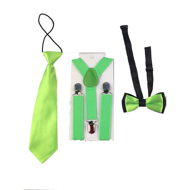 5 Set Mixed Batch Children Boys Suspenders Adjustable Y-Back Braces Butterfly Bowtie Wedding Party HHtr0009