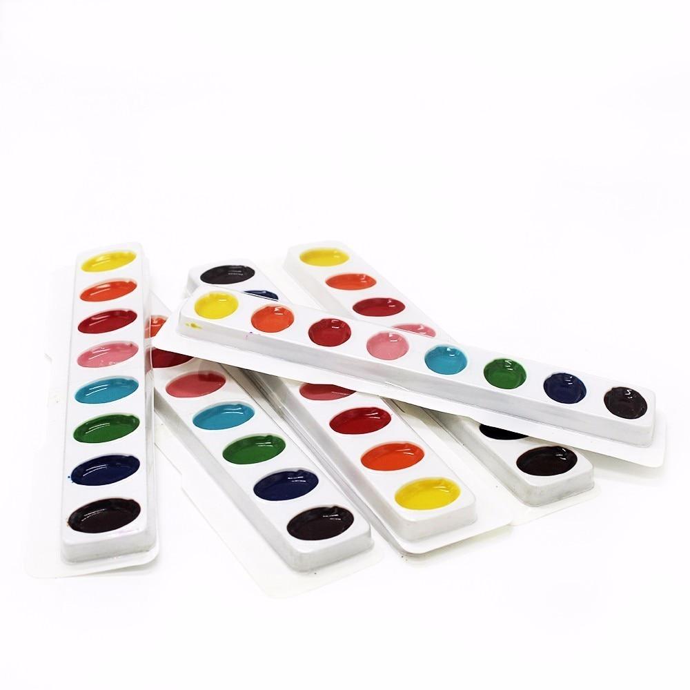 ठोस जल रंग पेंट के 3 पीसी - स्कूल और शैक्षिक उपकरण