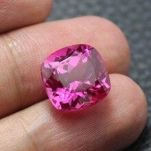 Perles de pierre de Tourmaline rouge rose impeccable pour la fabrication de bijoux rose à faire soi même pierre rouge rosee grosse forme carrée