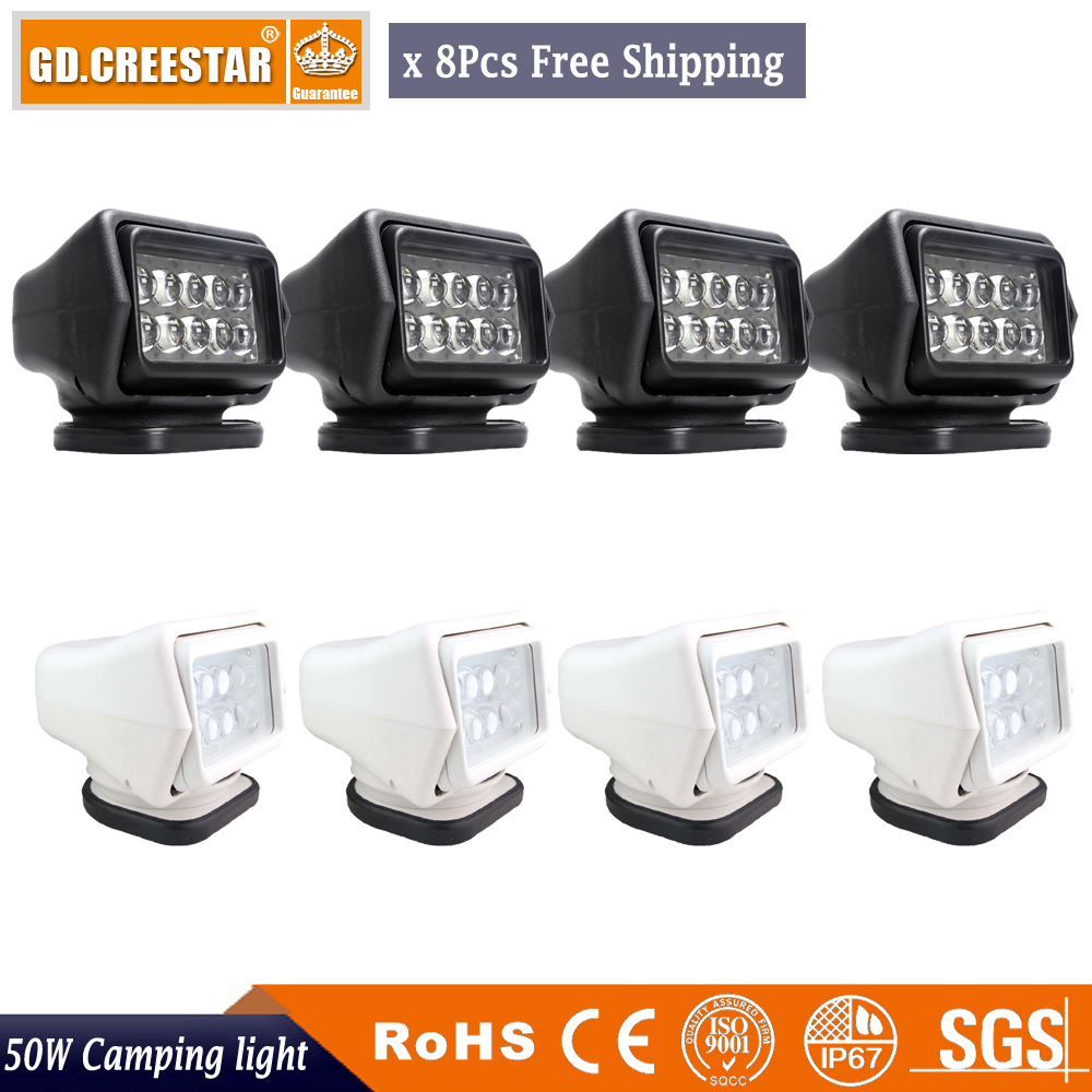 50w 7inch Led Remote Control Searchlight 7 Wiring Harness Boat Lamps For Truck Suv Marine Spotlights X8pcs Freeshipping In Car Light Assembly From