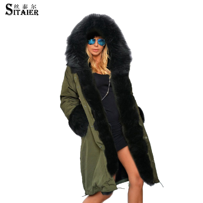 SITAIER high quality Europe Jacket Women Winter OCoat Womens Clothing Medium Long Cotton Padded Warm Jacket