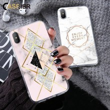 CASEIER Rose Marble Patterned Case For iPhone 6s 6 7 8 Plus Soft Silicone Phone Case For iPhone X Xs 5s 5 SE Back Cover Fundas стоимость