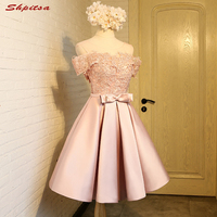 Pink Short Lace Homecoming Dresses 8th Grade Prom Dresses Junior High Cute Graduation Formal Dresses mezuniyet elbiseleri