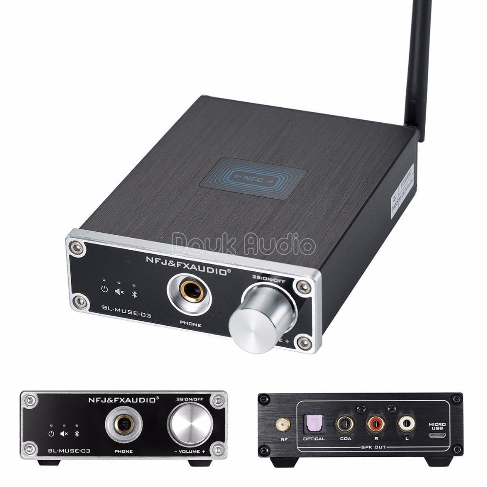 2018 Latest Nobsound NFC Bluetooth 4.2 Audio Receiver HiFi Headphone Amp Decoding Lossless HiFi Sound Quality DAC Amplifier hi fi 6f1 tube amplifier bluetooth 4 0 mini power amp u disk lossless decoding