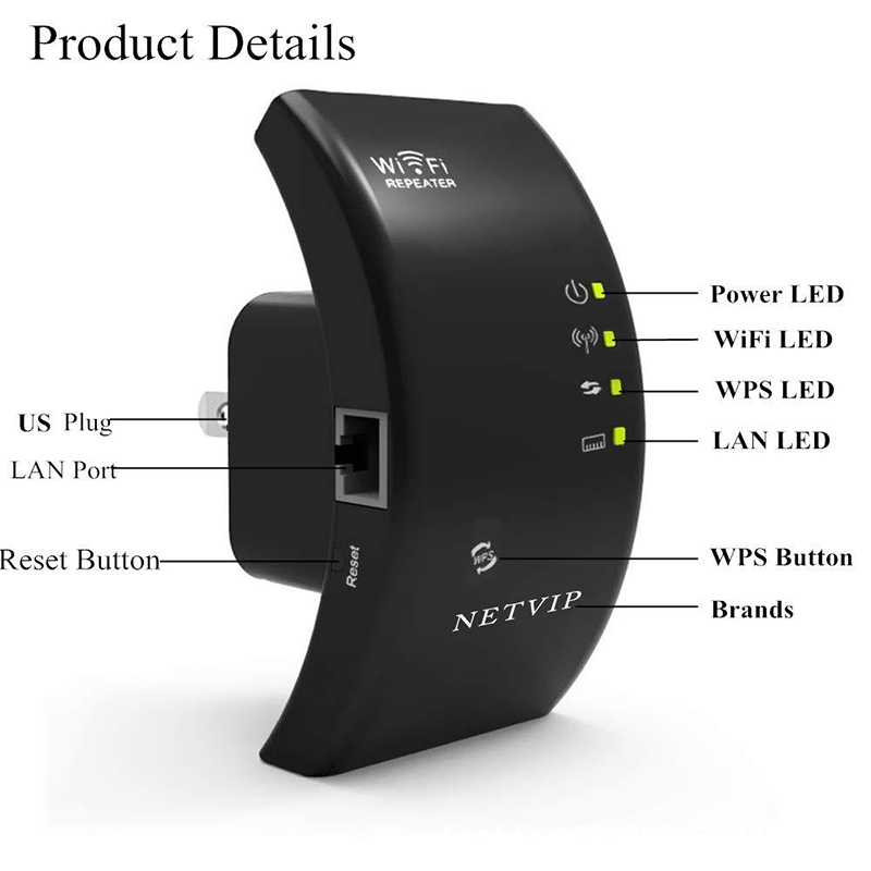 300Mbps רשת אנטנת Wifi Extender אלחוטי WIFI משחזר 802.11n/b/g אות Booster Repetidor Wifi title=