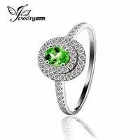 Women Romantic Oval Cut Green Tourmaline 925 Silver Ring 2015 Anniverary Jewelry Wholesale Price New Bridal