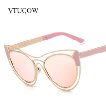 Fashion Lady Cat Eye Sunglasses Women 2017 New Brand Designer Popular High Quality Eyewear Mirror Sun Glasses For Women Female