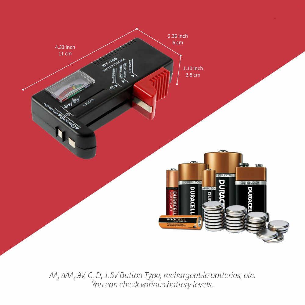Universele BT168 Digitale Batterij Tester Volt Checker voor AA AAA 9V Button Meerdere Formaat Batterij Tester Voltage Meter Gereedschappen BT-168