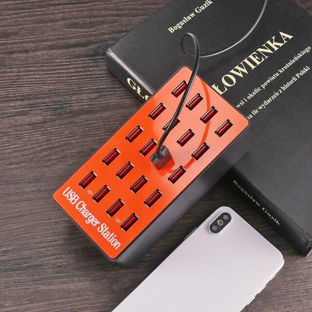 כוח אוניברסלי מתאם עם quicky תשלום 3.0 USB מטען 20 יציאות USB רכזת תחנת עבור iPhone7 8 8 בתוספת X iPad סמסונג Huawei