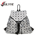 2016 New Fashion Geometric BAOBAO Backpack Women Large Capacity  Patchwork Diamond Lattice Backpack Famous Brand Drawstring Bag