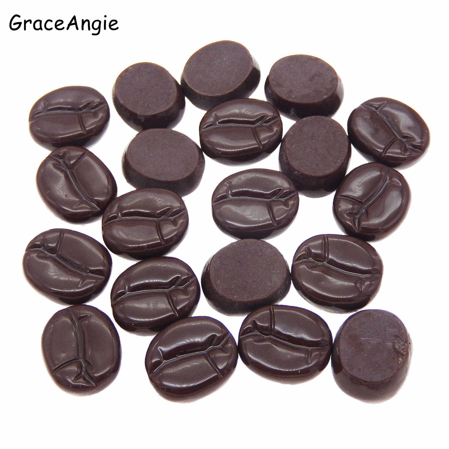 10pcs Resin Imitation Food Coffee Beans Flatback Jewelry Cabochons Slime Charms Beverages Jewelry Makings Handmade DIY Gifts