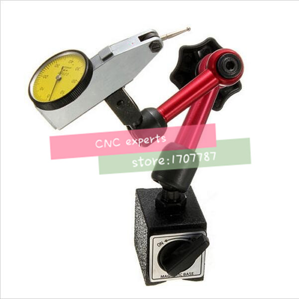 Free Shipping Dial Indicator 0-0.8mm/0.01mm With Mini Magnetic Stand 2 In 1 Lever Dial Test Indicator Measuring Tool