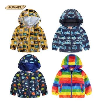 1f96e251c JOMAKE lindo dibujos animados primavera niños abrigo otoño niños chaqueta  niños abrigos activo niño cortavientos ropa