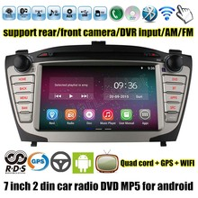 support rear camera Car DVD Stereo Auto Radio GPS Navigation for Hyundai Ix35 MP5 MP4 player 2 din 7 inch for Android 4.4