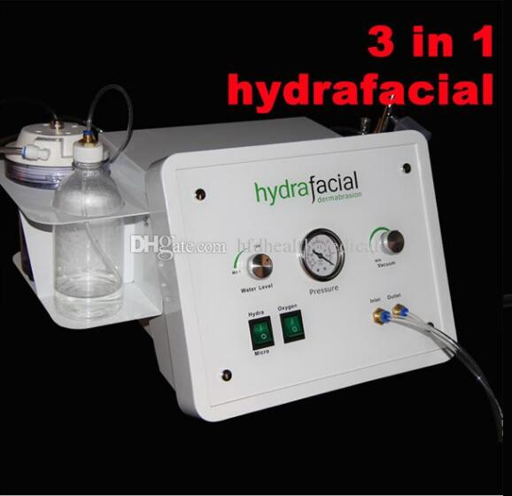 3in1 Portable Diamond Microdermabrasion Facial Machine Oxygen Bubbles Water Aqua Dermabrasion Peeling Hydrafacial Spa Equipmen