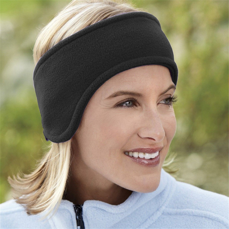 Women Men Earmuffes Winter Ski Ear Muff Warmer Head Band Polar Fleece Stretch Hair Band Accessories Free Shipping