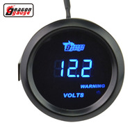 2 52mm Black Car Moter Blue Light Digital LED Electronic Volt Gauge Free Shipping