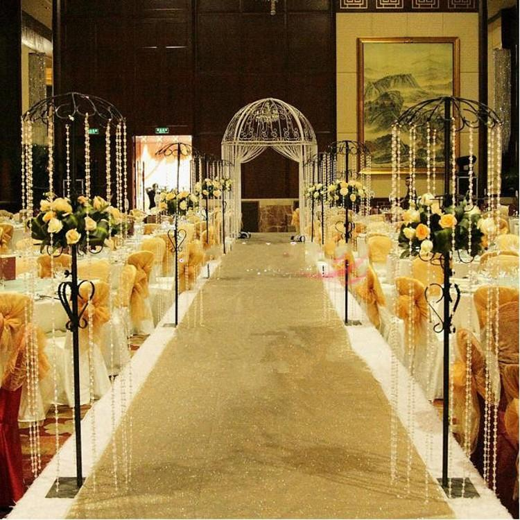 10 M Per Roll Fashion Gold Pearlescent Wedding Carpet T