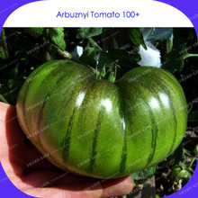 New Arrival!Rare Heirloom Arbuznyi Big Green Tomato with Dark Green Line Organic Seeds 100 PCS Non-GM Organic Food Vegetables