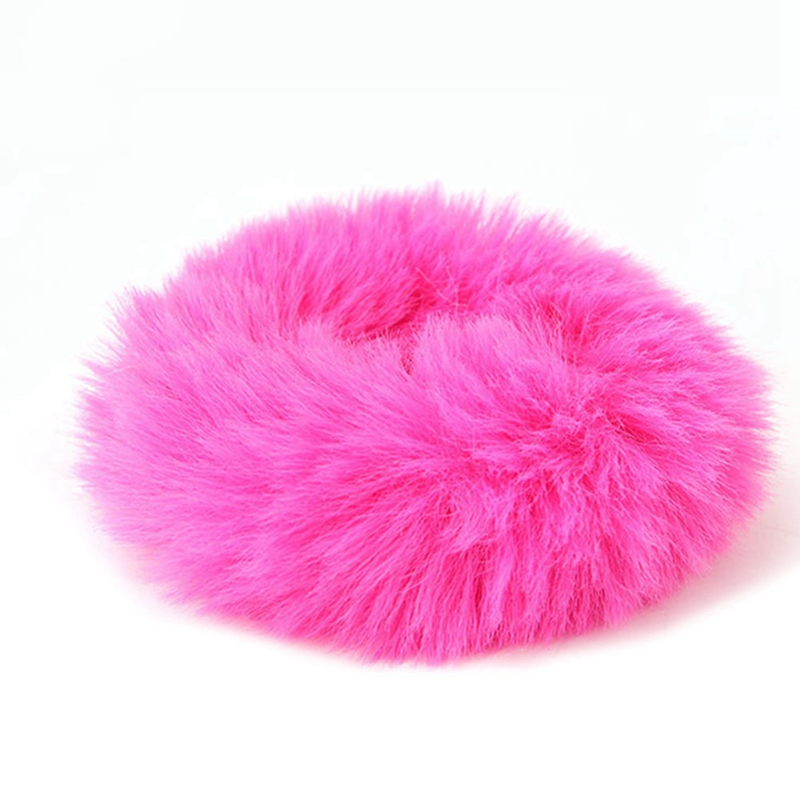 Модная эластичная резинка из искусственного кроличьего меха для девочек, резинка для волос, держатель для хвоста, эластичная плюшевая повязка для волос, кольцо, аксессуары для волос