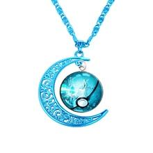 Cool Pokemon WICCAN Blue Moon Neckalce