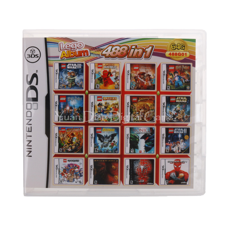 Nintendo NDS Video Game Cartridge Console Card 488 IN 1 English Language Version centek ct 1110