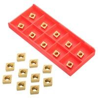 us735 כלי 10pcs זהב והתוספות CCMT060204 US735 והתוספות CCMT21.51 עם תיבת עבור CNC הפעלת כלי (2)