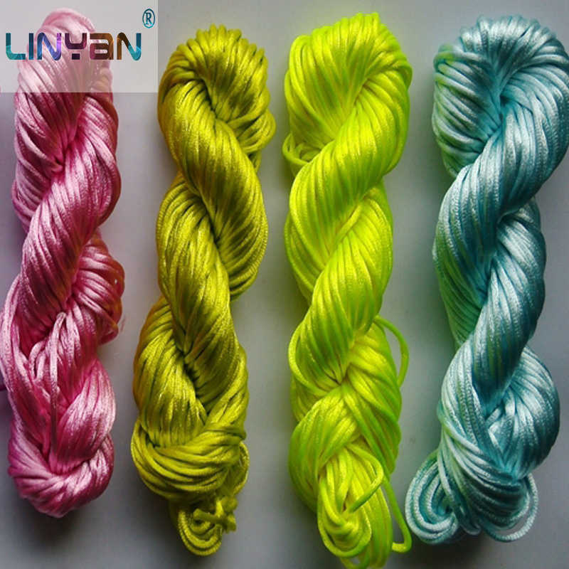10PCS *28M DIY Handwork jewelry accessory Chinese knot thread Korea silk yarn for crocheting Knitting line thread to knit zl3595