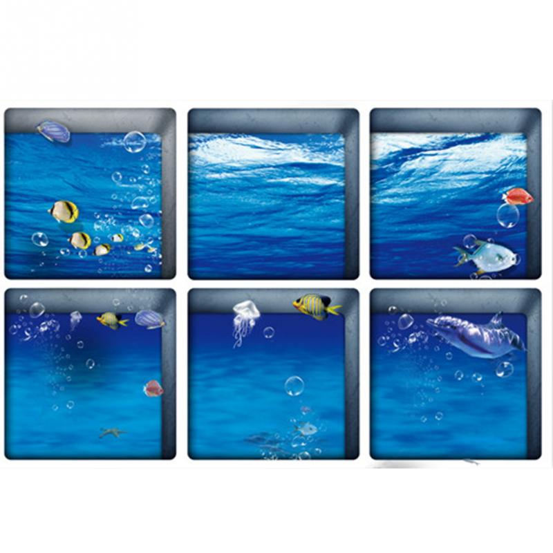Underwater World Dolphin Shower Curtain Printing Bathroom Decor 180 180cm