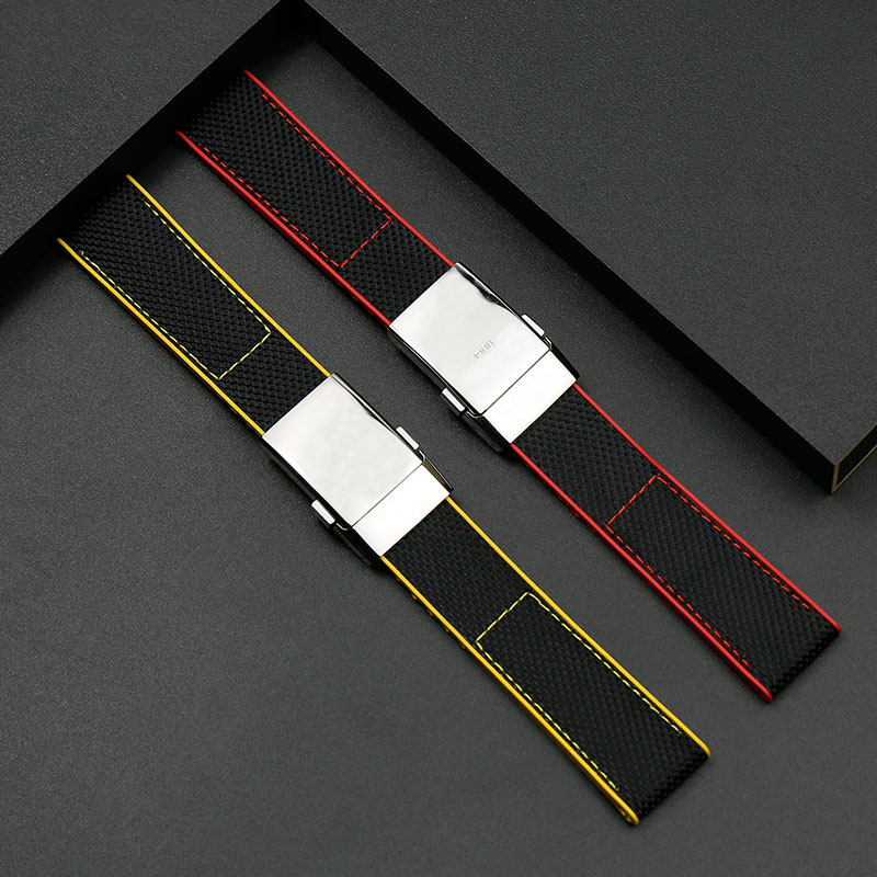 Bracelet en caoutchouc 22mm pour hommes pour Breitling Avengers Super Marine série Nylon bracelet en toile montre accessoires