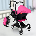 Free shipping russian children's car car seat cushion basket baby carriage baby trolley light folding baby safety seat