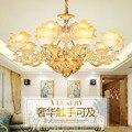 Современная Золотая свеча в форме цветка люстра гостиная Кофейня хрустальная люстра романтическая современная люстра led