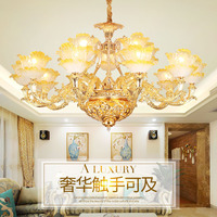 Forma de Flor de Ouro moderno Lustre de Cristal Vela do Candelabro Sala Café Romântico Lustres Modernos levou