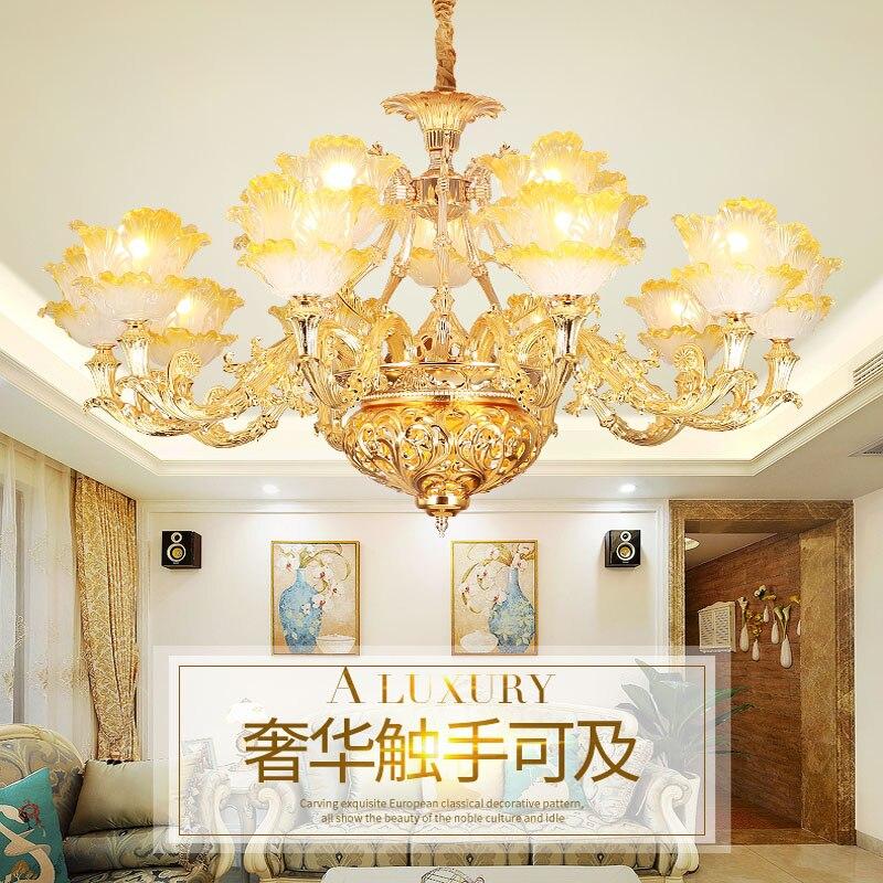 Modern Golden Flower Shape Candle Chandelier Living Room Coffee Shop Crystal Chandelier Romantic Modern Chandeliers Led