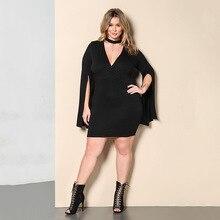 Sexy Knit Women Summer Dress Black V-neck Bodycon Bandage Dress Soft Package Hip Dress Clubwear Vestidos Plus Size
