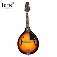 IRIN A Style Mandolin Sunburst Linden Wood 8 strings Black+Yellow Color With Wiping cloth Music Instruments Stringed Parts