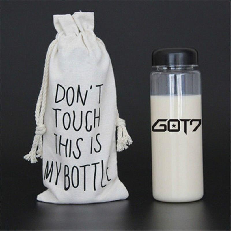 KPOP GOT7 Water Bottle JB JinYoung Mark Jackson YoungJae BamBam YuGyeom Plastic Model Toy Gift 6102907 signed got7 got 7 kim yugyeom yu gyeom autographed photo 7 for 7 6 inches free shipping 102017a