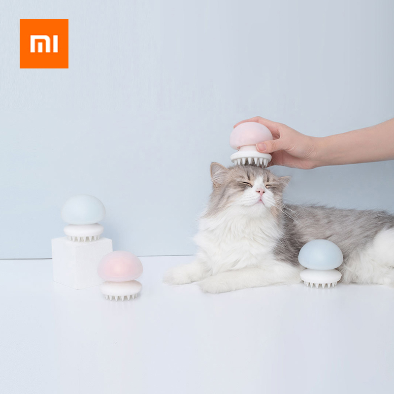 Xiaomi Jellyfish Pet Cat Massager Comb Anti static Hair Massager Comb Brush Cat Grooming Massager Wet/Dry Cat Artifact Toy-in Smart Remote Control from Consumer Electronics