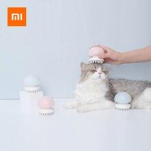 Xiaomi jellyfish pet cat massager pente anti estático cabelo massageador pente escova gato grooming massageador molhado/seco gato artefato brinquedo