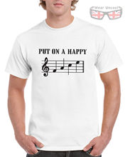 Mens Unisex PUT ON A HAPPY FACE Musicians T-Shirt Trombone Trumpet Guitar Piano New T Shirts Funny Tops Tee