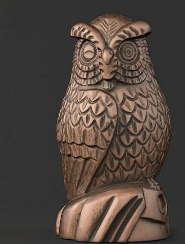 3d Model Relief For Cnc And Printer In STL File Format Owl (5)