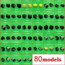 80 modelos, 160 pces, conector meados do conector da tomada de alimentação da c.c. do computador portátil da tabuleta para samsung/asus/acer/hp/toshiba/dell/...