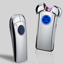 New Bat Pulse Double Arc Lighter USB Rechargeable Lighters Novelty Electronic Cigarette Metal Windproof Men Gift briquet