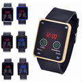 1 шт. женщины дамы студент наручные часы часы новый всплеск спортивные часы сенсорный экран Цифровой Наручные Часы прямоугольник горячая H4