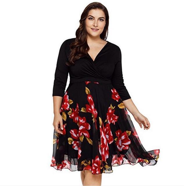 2018 New Summer Hot Sale Sexy V Neck Fashion Print Girls Fashion