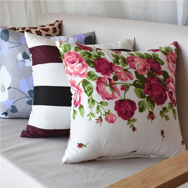 40*40cm Family Cushion Cover Soft Plush Pillow Case Home Room Office Decoration Back Throw Sofa Cushion Cover