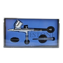 1 set Action Dual Gravity Feed Airbrush 0.3mm Gun Spray Art Paint Kit Tattoo Nail Tool